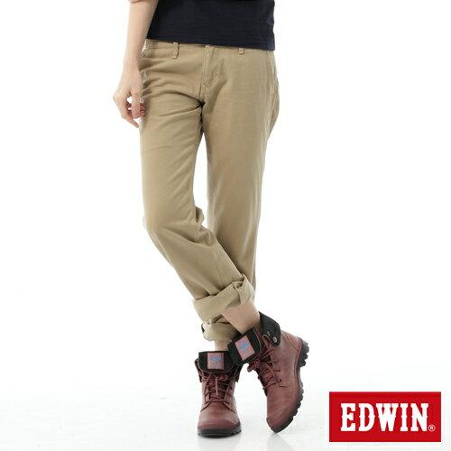 【5折優惠↘】Miss EDWIN KHAKI 休閒褲 女款 淺卡其 0