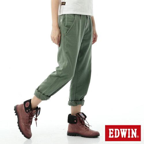 【5折優惠↘】Miss EDWIN KHAKI BOYFRIEND休閒褲 女款 橄欖綠 0