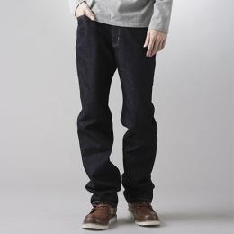 EDWIN 超大尺碼 基本 直筒牛仔褲 男款 藍色