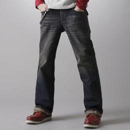 EDWIN XV 袋蓋靴型牛仔褲-男款 中古藍 BOOTCUT