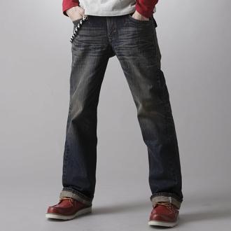 【990元優惠↘】EDWIN XV 袋蓋靴型牛仔褲-男款 中古藍