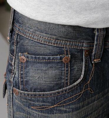 EDWIN XV 袋蓋靴型牛仔褲-男款 中古藍 BOOTCUT 零碼 1