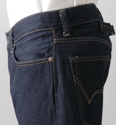 【5折優惠↘】【超大尺碼】EDWIN 505 ZX 直筒個性牛仔褲-男款 原藍色 2