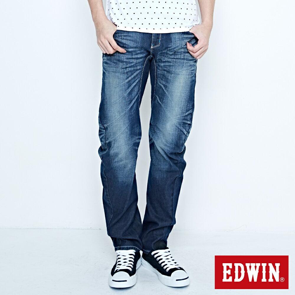 EDWIN E-FUNCTION 袋蓋窄直筒褲-男款 中古藍 SLIM 0