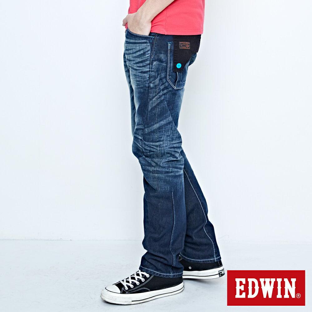 EDWIN E-FUNCTION 袋蓋窄直筒褲-男款 中古藍 SLIM 2