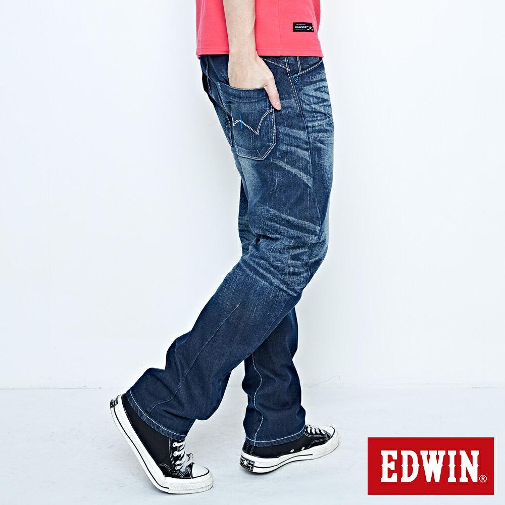 EDWIN E-FUNCTION 袋蓋窄直筒褲-男款 中古藍 SLIM 3