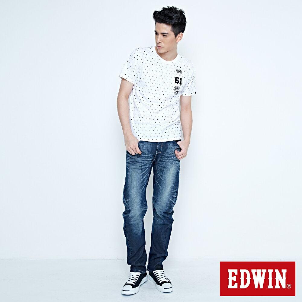 EDWIN E-FUNCTION 袋蓋窄直筒褲-男款 中古藍 SLIM 4