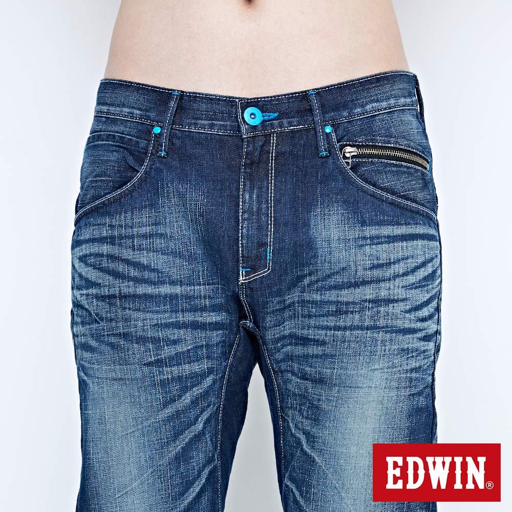 EDWIN E-FUNCTION 袋蓋窄直筒褲-男款 中古藍 SLIM 5
