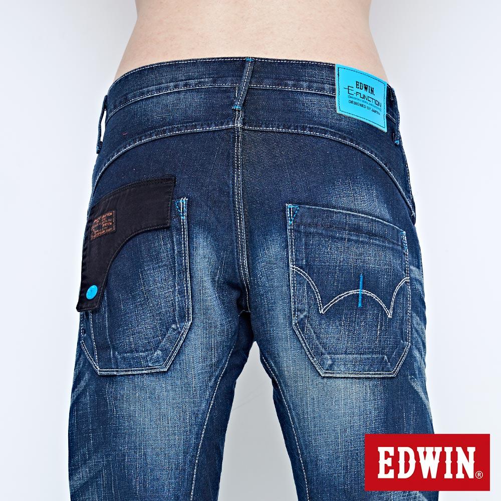 EDWIN E-FUNCTION 袋蓋窄直筒褲-男款 中古藍 SLIM 6