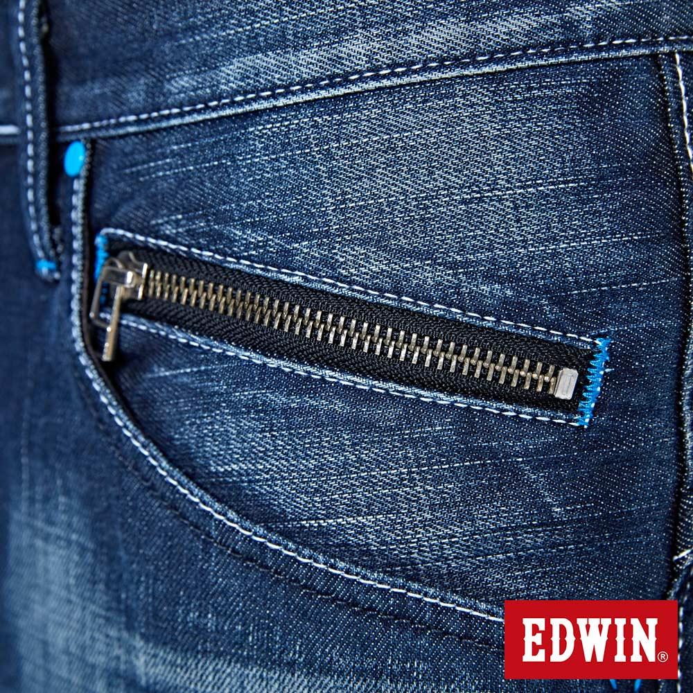 EDWIN E-FUNCTION 袋蓋窄直筒褲-男款 中古藍 SLIM 7