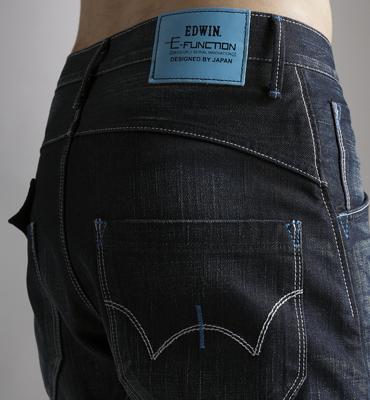 【5折優惠↘】EDWIN E-FUNCTION袋蓋窄直筒褲-男款 中古藍 2