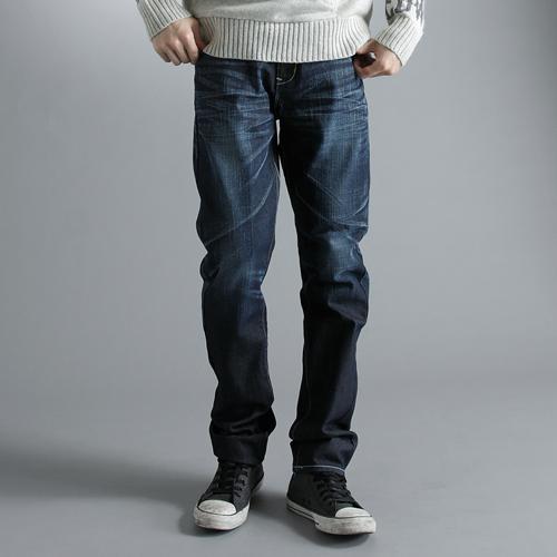 【5折優惠↘】EDWIN E-FUNCTION 直筒牛仔褲-男款 原藍磨 0