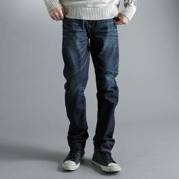 EDWIN E-FUNCTION 中直筒牛仔褲-男款 原藍磨 STRAIGHT