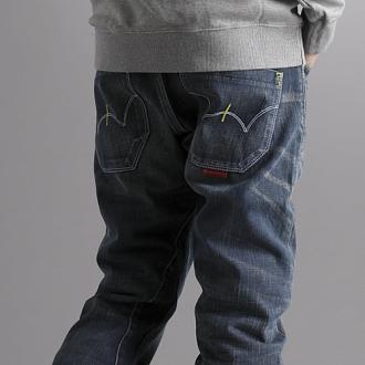 【限量丹寧。均一價590↘】EDWIN E-FUNCTION 3D中直筒牛仔褲-男款 酵洗藍【48HR POP-up SALE→憑優惠券序號17marathon-2。再折88元】