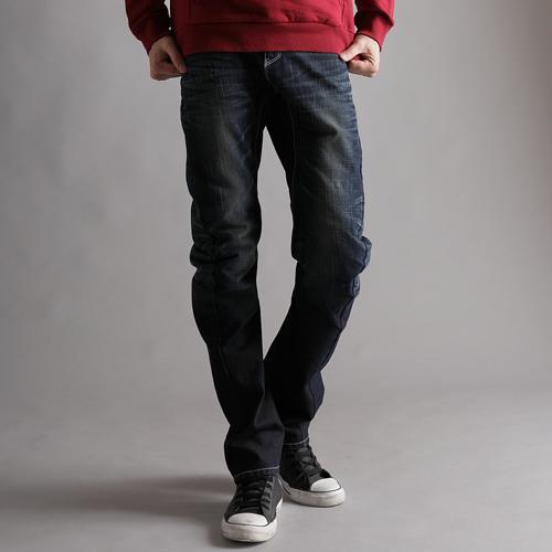 【5折優惠↘】【大尺碼】EDWIN E-FUNCTION 袋蓋窄直筒褲-男款 中古藍