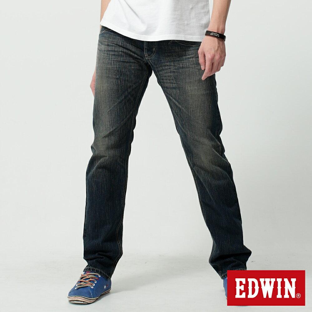 EDWIN BLUE TRIP 假口袋袋蓋AB褲-男款 中古藍 TAPERED 零碼 0