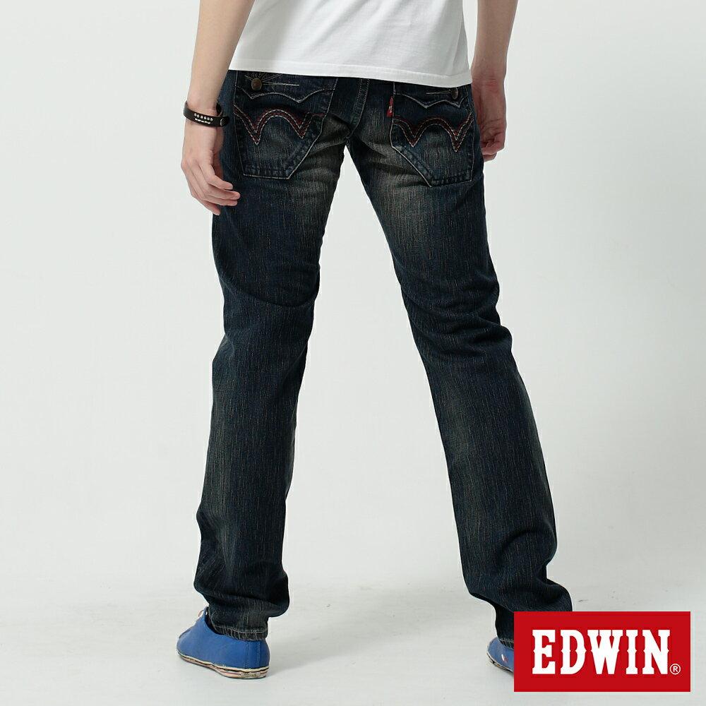 EDWIN BLUE TRIP 假口袋袋蓋AB褲-男款 中古藍 TAPERED 零碼 2