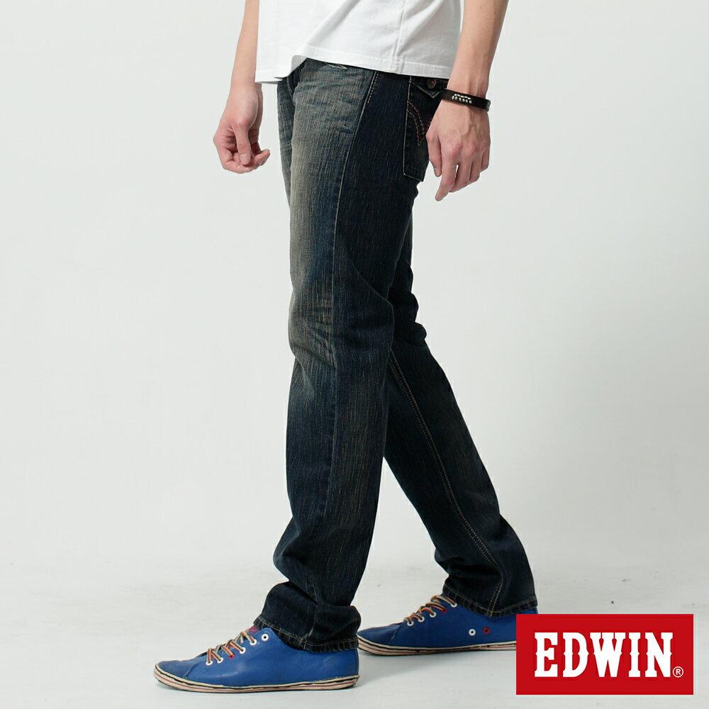 EDWIN BLUE TRIP 假口袋袋蓋AB褲-男款 中古藍 TAPERED 零碼 3