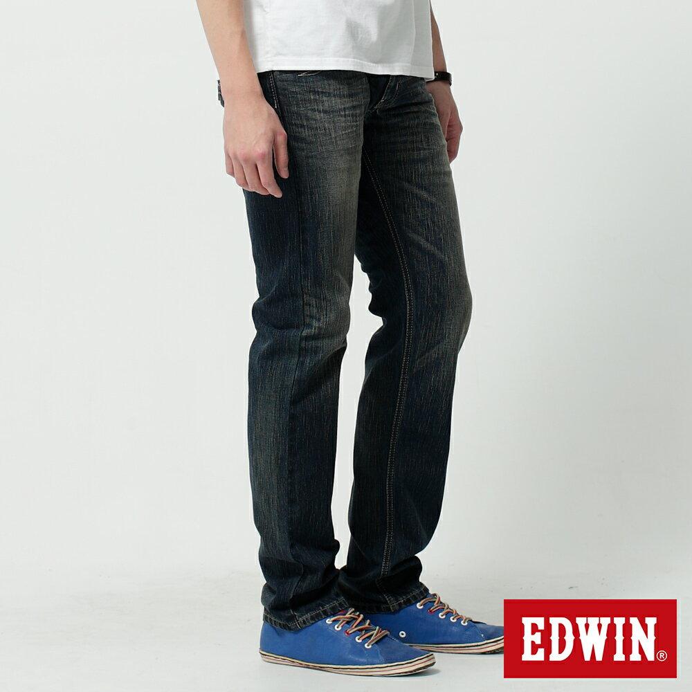 EDWIN BLUE TRIP 假口袋袋蓋AB褲-男款 中古藍 TAPERED 零碼 4