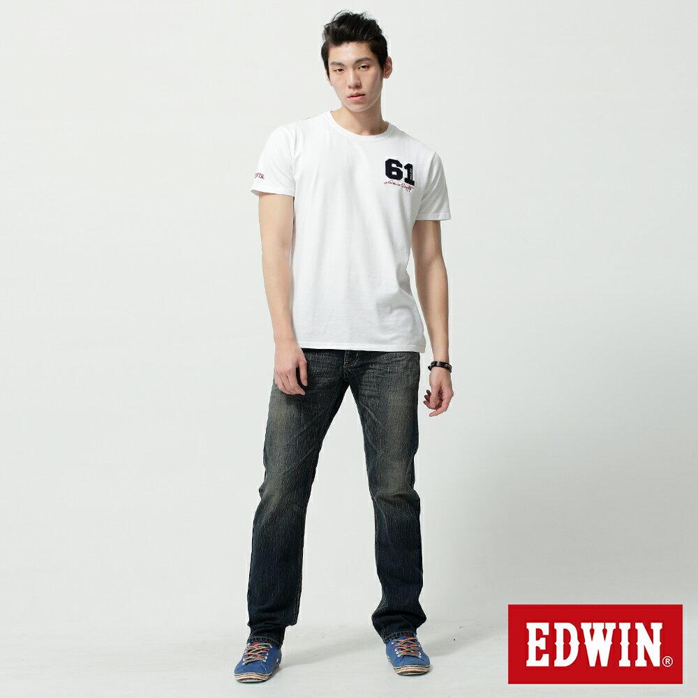EDWIN BLUE TRIP 假口袋袋蓋AB褲-男款 中古藍 TAPERED 零碼 5
