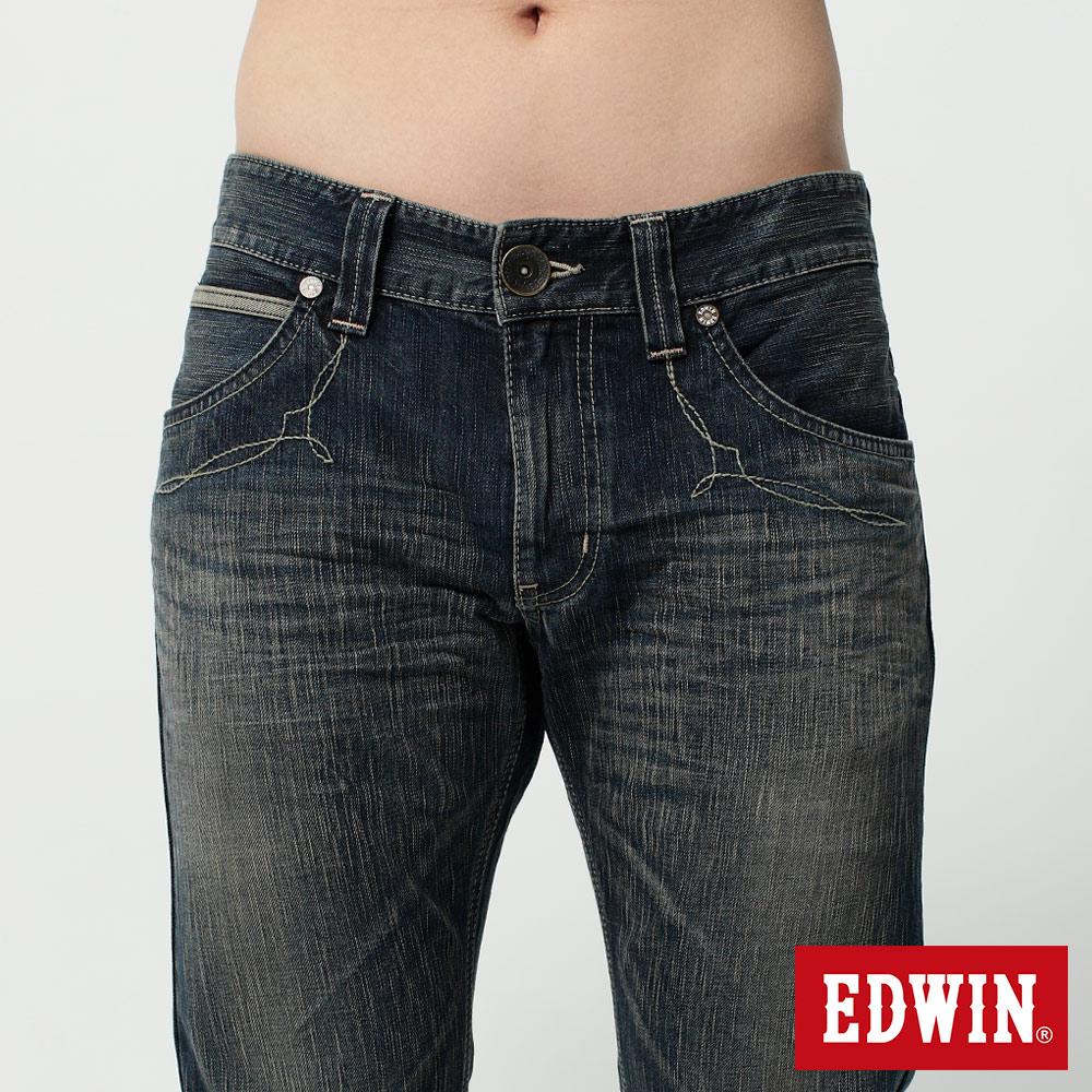 EDWIN BLUE TRIP 假口袋袋蓋AB褲-男款 中古藍 TAPERED 零碼 6