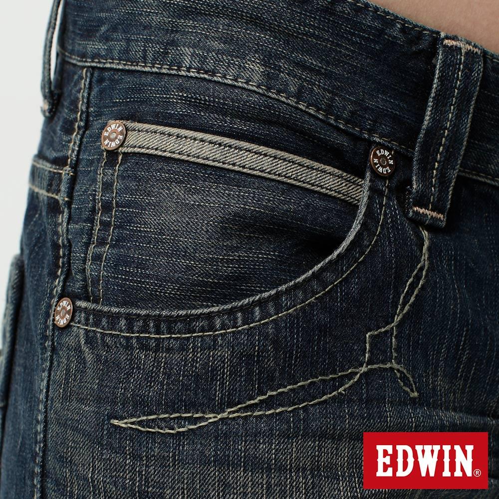 EDWIN BLUE TRIP 假口袋袋蓋AB褲-男款 中古藍 TAPERED 零碼 8