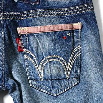 【經典丹寧。990元均一價↘】EDWIN Miss503 BLUE TRIP 小花AB牛仔褲-女款 拔淺藍色 2