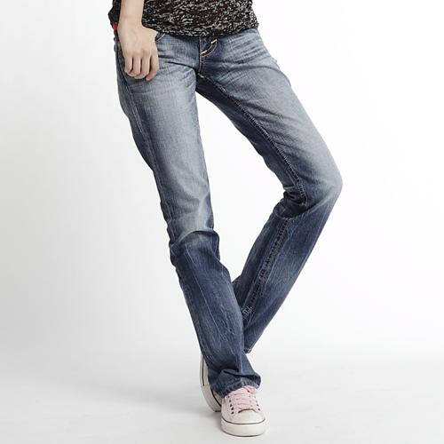 【5折優惠↘】Miss EDWIN BLUE TRIP 褲頭縫線牛仔小直筒褲 女款 淺藍色【1月會員神券| 消費滿1000結帳輸入序號New2018-100再折100↘| 消費滿1288結帳輸入序號J..