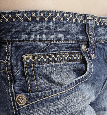 【5折優惠↘】Miss EDWIN BLUE TRIP 褲頭縫線牛仔小直筒褲 女款 淺藍色 1