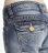 【5折優惠↘】Miss EDWIN BLUE TRIP 褲頭縫線牛仔小直筒褲 女款 淺藍色 2
