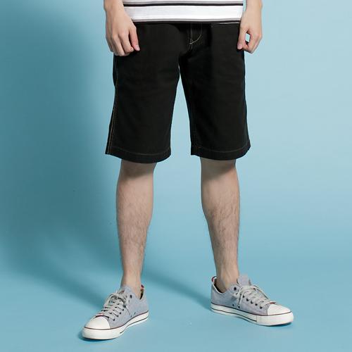 【590元優惠↘】【零碼】EDWIN KHAKI 簡約素面休閒短褲-男款 黑色