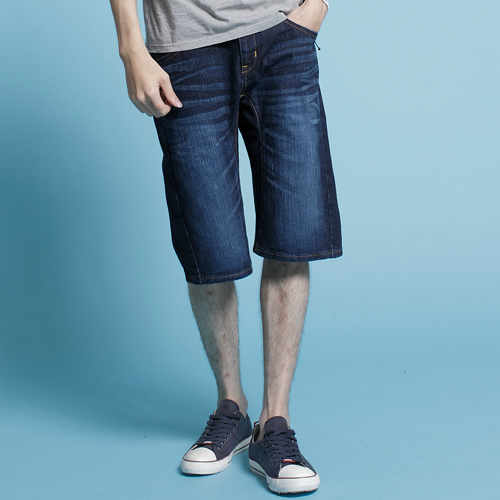 EDWIN XV-FUNCTION短褲-男款 原藍磨 SHORTS