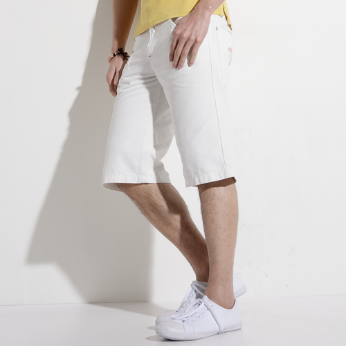 EDWIN 503 BLUE TRIP 棉質5分短褲-男款 白色 SHORTS KAKHI 零碼