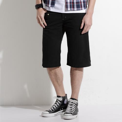 【790元優惠↘】EDWIN 503 BLUE TRIP 棉質5分短褲-男款 黑色