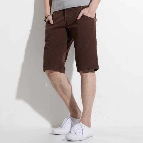 【790元優惠↘】EDWIN B.T麂皮接邊5分短褲-男款 咖啡色
