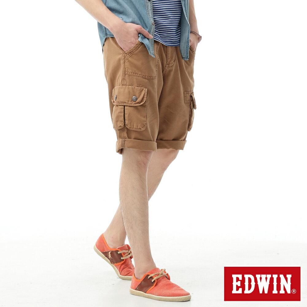 EDWIN BLUE TRIP 口袋短褲-男款 灰卡其 零碼 SHORTS KAKHI