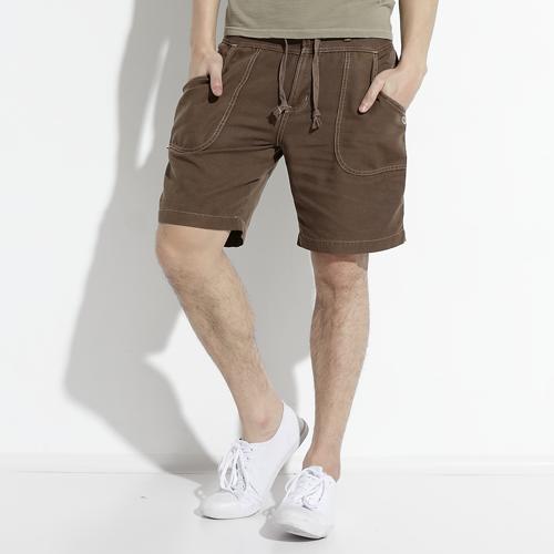 ~快閃 ~ 2件749元↘~EDWIN 夏天輕鬆穿 繡線休閒短褲~男款 灰卡其~06  1