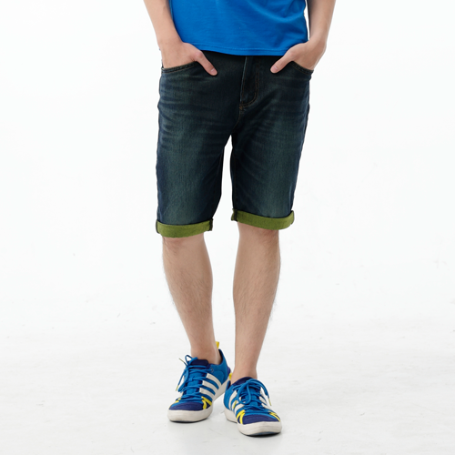 【1290元優惠↘】EDWIN JERSEYS 個性反折 迦績牛仔短褲-男款 原藍磨【點數加碼10+10倍↘】【下單滿799輸入限量代碼79910030-1折100元↘序號限用一次↘】 0