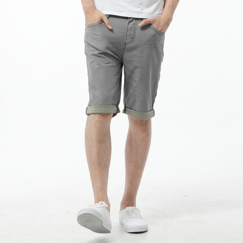 【過年加碼。2件再9折優惠↘】EDWIN JERSEYS 迦績彈力休閒短褲-男款 淺灰色 0