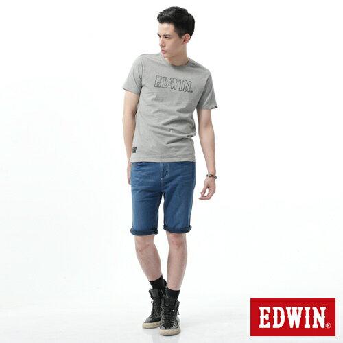 【1290元優惠↘】【大尺碼】EDWIN JERSEYS迦績涼爽工作短褲-男-石洗藍 1