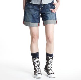 【790元優惠↘】Miss EDWIN B.T 小花反折牛仔短褲-女款 輕刷洗牛仔深藍