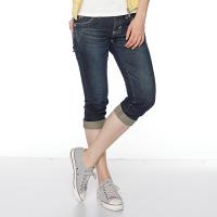 Miss EDWIN BLUE 麂皮 口袋七分牛仔褲 女款