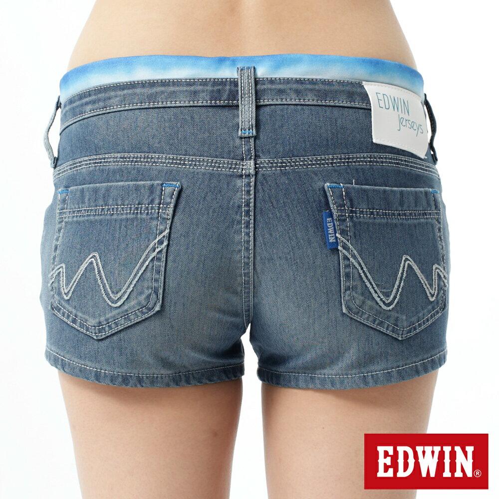 【1290元優惠↘】EDWIN JERSEYS迦績涼感牛仔超短褲-女-石洗藍【APP下單滿799輸入代碼APP170622折100元↘序號限用一次↘】 1