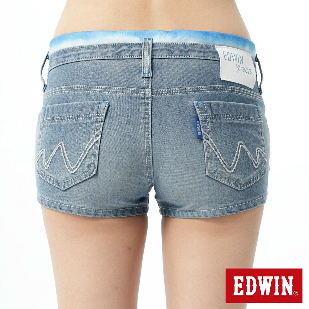 【1290元優惠↘】EDWIN JERSEYS迦績涼感牛仔超短褲-女-重漂藍 1