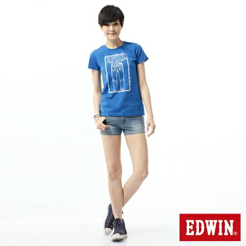 【1290元優惠↘】EDWIN JERSEYS迦績涼感牛仔超短褲-女-重漂藍 2