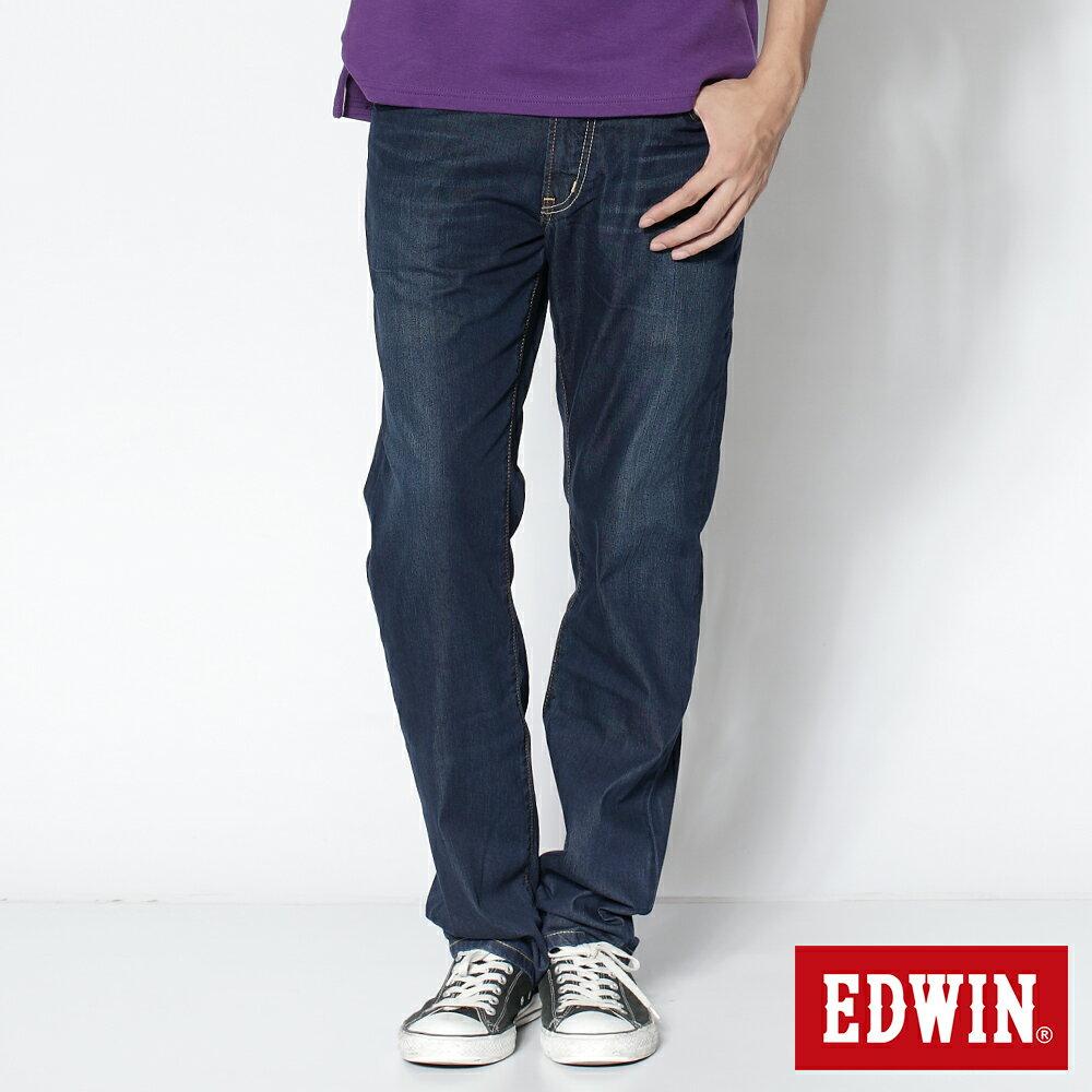 EDWIN COOL RELAX 大尺碼  中直筒牛仔褲-男款 中古藍 STRAIGHT 零碼 0