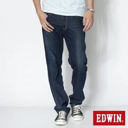 EDWIN COOL RELAX 中直筒牛仔褲-男款 中古藍 STRAIGHT