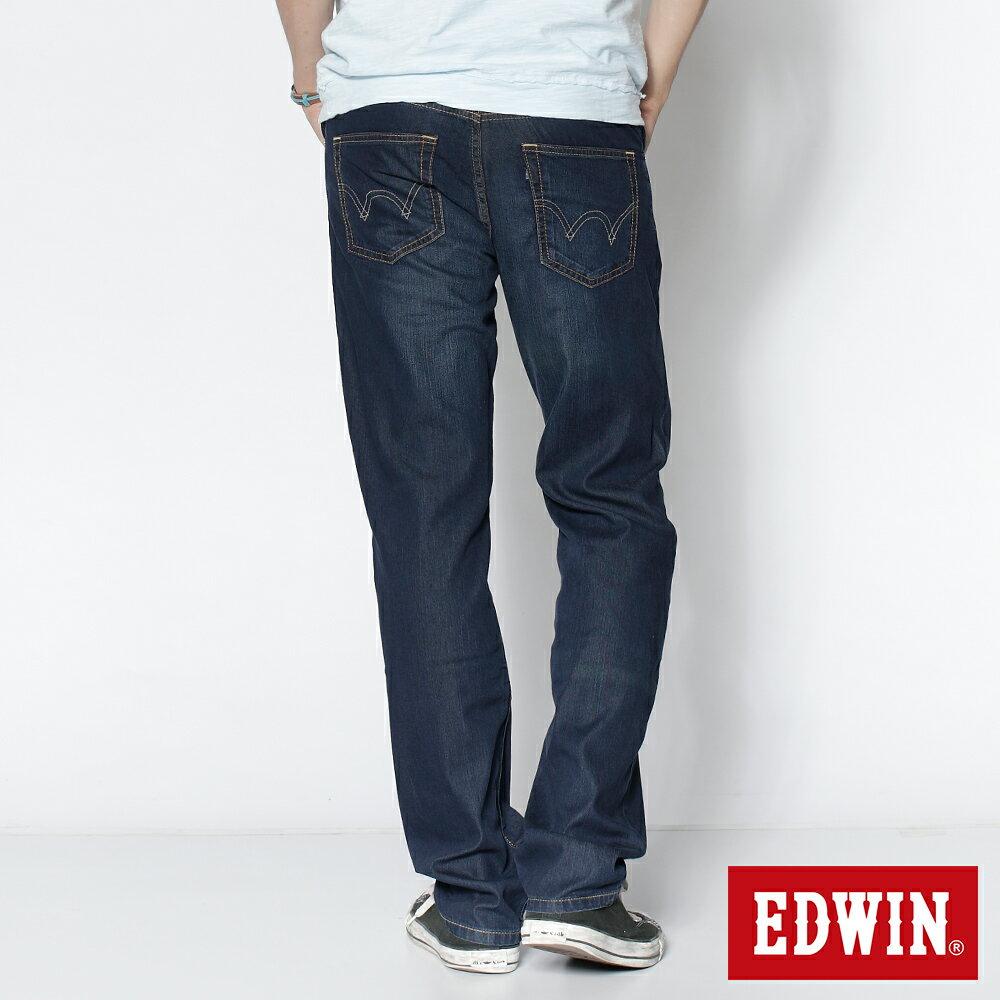 EDWIN COOL RELAX 大尺碼  中直筒牛仔褲-男款 中古藍 STRAIGHT 零碼 1