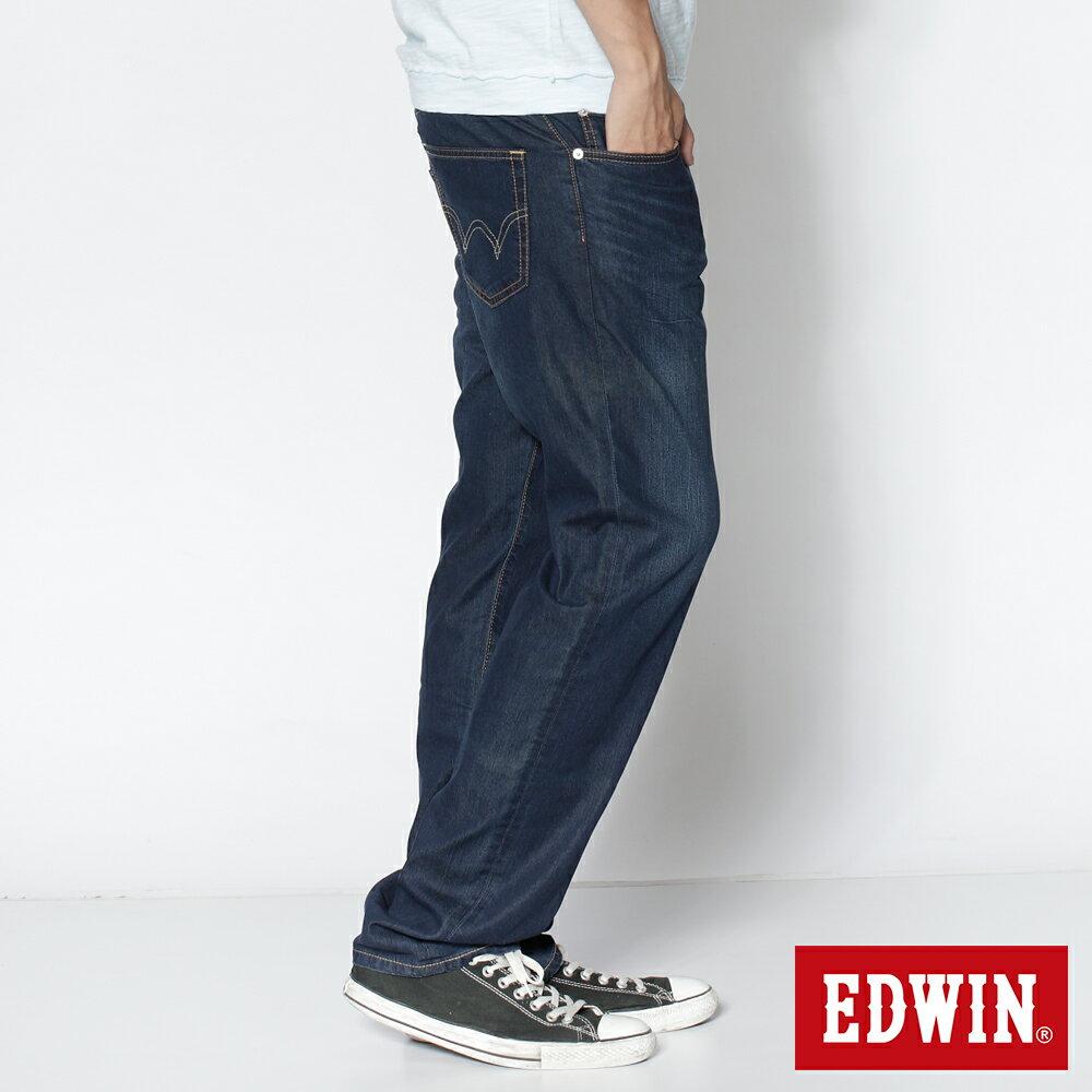 EDWIN COOL RELAX 大尺碼  中直筒牛仔褲-男款 中古藍 STRAIGHT 零碼 2