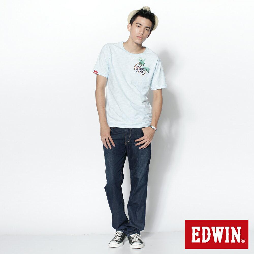 EDWIN COOL RELAX 大尺碼  中直筒牛仔褲-男款 中古藍 STRAIGHT 零碼 4
